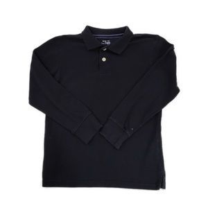 Children's Place Black Long Sleeve Polo, Size M